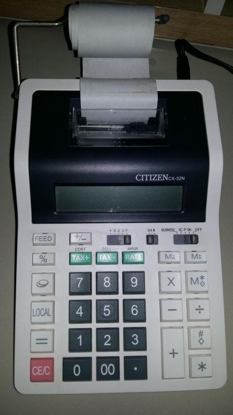 Citizen cx-32n printing Calculator