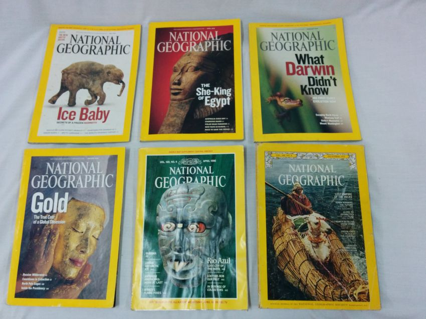 National Geographic Magazine 6 Issues 1973-2009