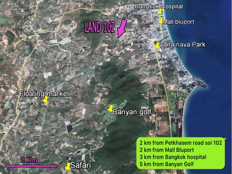 Land for sale soi 102 Hua hin