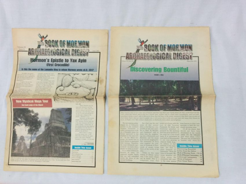 The Book of Mormon Archaeological Digest, 2 issues from 2001