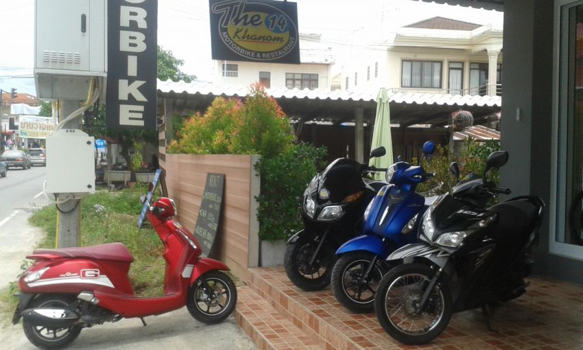 Motorbikes, Sidecar, Bicycles, Cars for Rent in Khanom