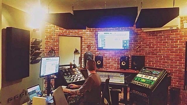 Recording studio with complete equipment in a townhouse