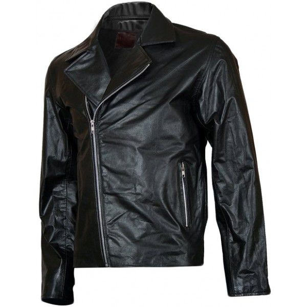 Ghost Rider Jacket - Black Leather Motorcycle Jacket