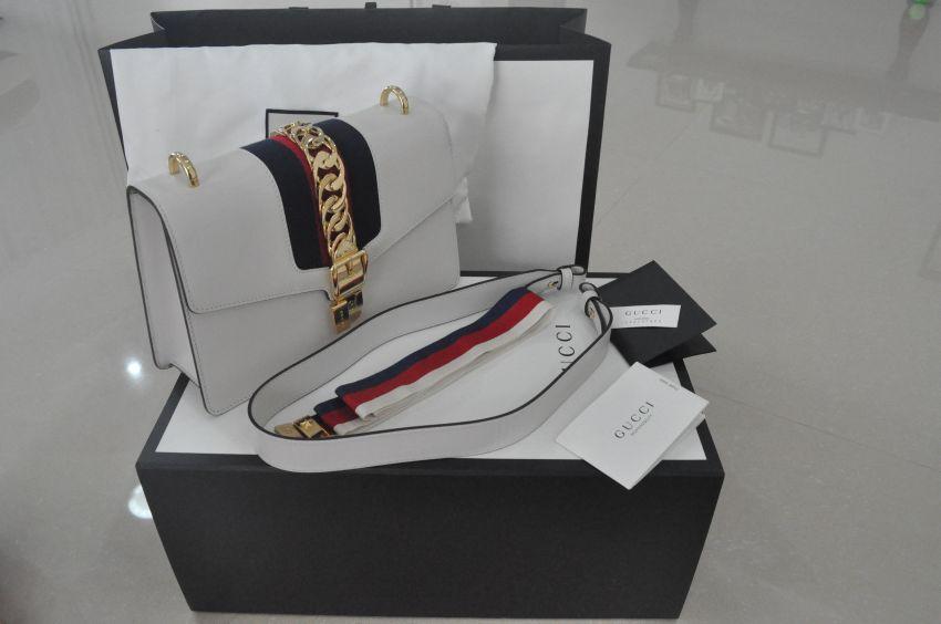 Gucci Handbag Bag Sylvie Authentic Louis