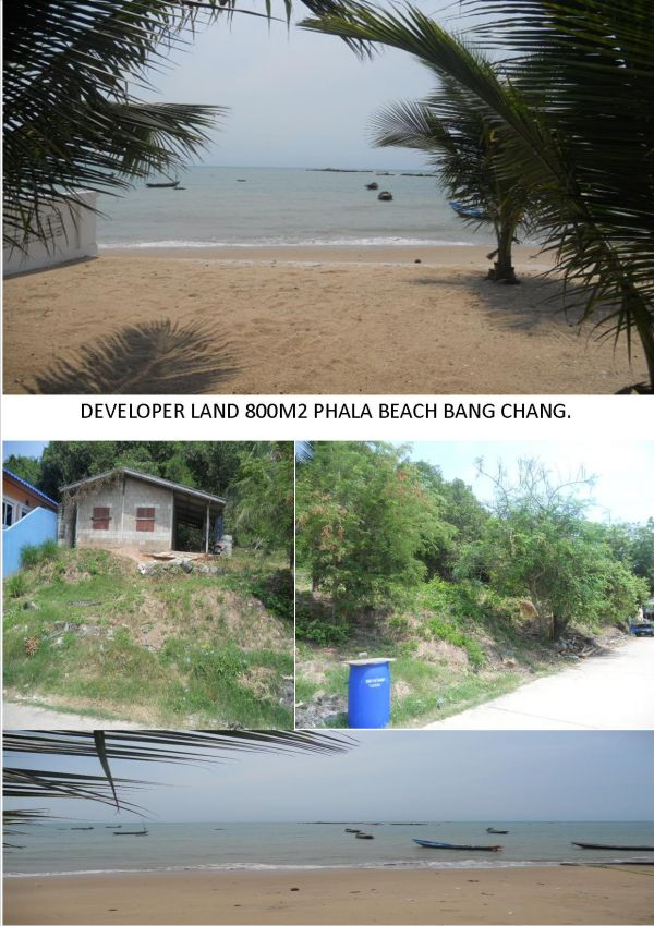 Now Reduced 1mbt Developer Land Phala beach bang chang