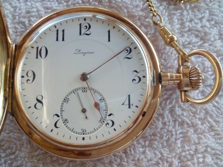 Longines Swiss poket watch, gold 585