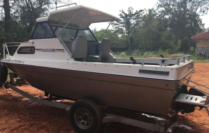 Fishing Boat Marlin 20 Mercruiser 165 HP- 270,000 baht