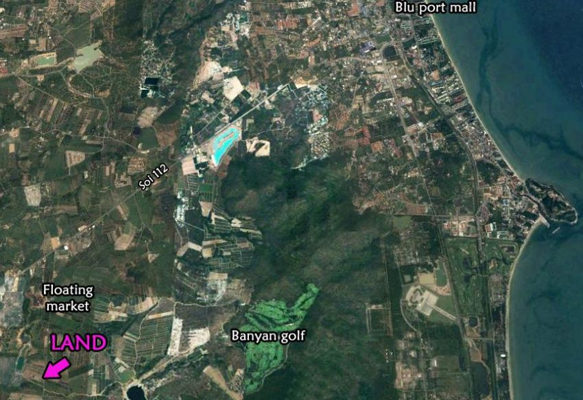 Land for sale 12 rai soi 112 Hua hin