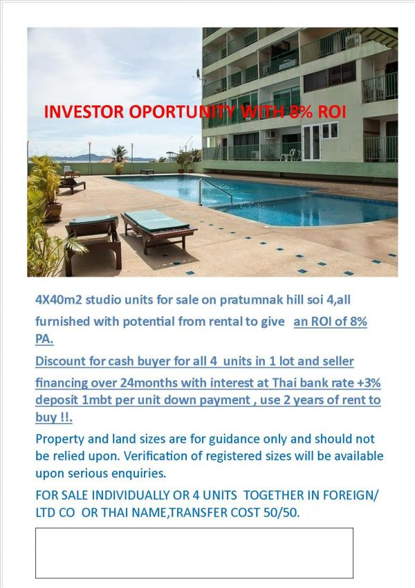 investor opportunity ROI c8%