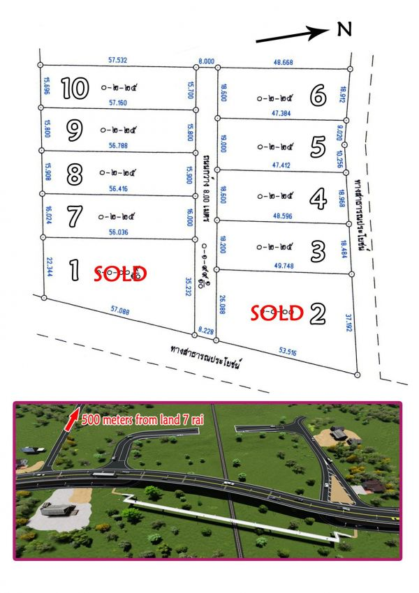 Sale 10 plots on 7 rai Pranburi