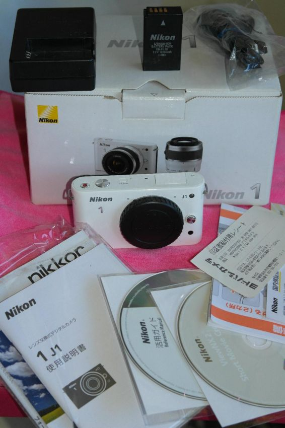 Nikon 1 J1 Digital Camera White Body in box