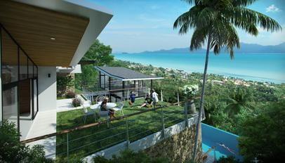 For sale off plan villas 3-6 bedroom sea view pool Koh Samui