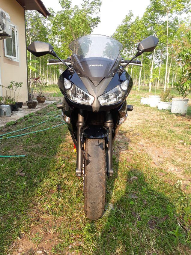Kawasaki Ninja 650R Black Akrapovic Exhaust