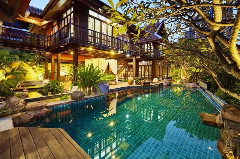 Authentic Bali style 3 plus bedroom estate at top Jomtien/Pa