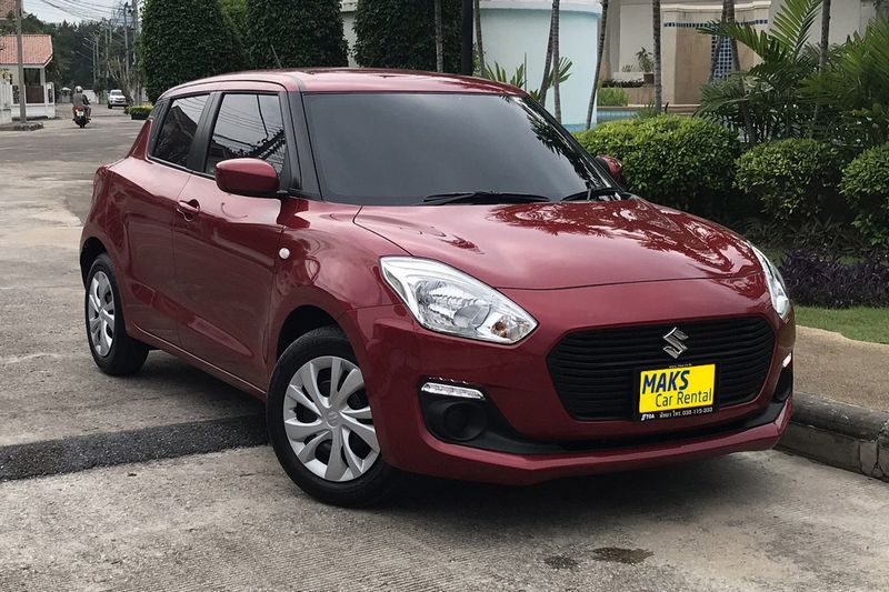 New Suzuki Swift 2018 for rent in Pattaya