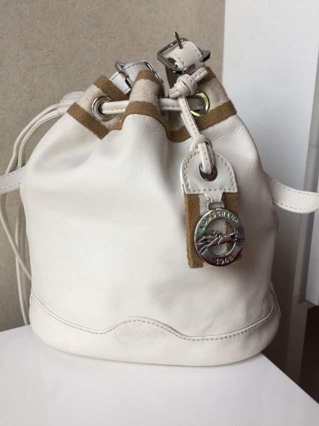 LONGCHAMP AU SULTAN COLLECTION WHITE LEATHER