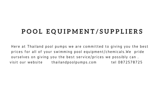 Swimming pool equipment/supplies