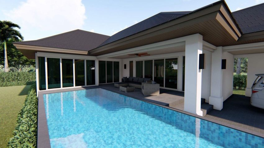 Newly built pool villa 180 sqm soi 88 Hua Hin