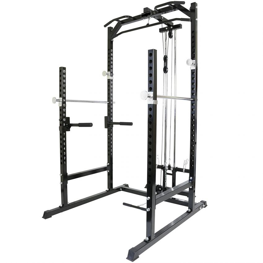 Gym Power Cage Rack Cable Pulley High Low