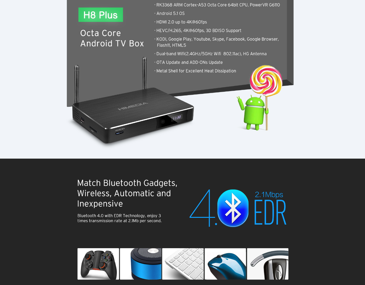 The latest in High Speed & High Quality TV box Media Centre
