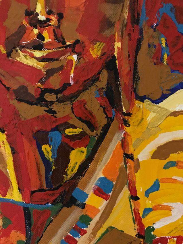 Original picture (Canvas - acrylic).