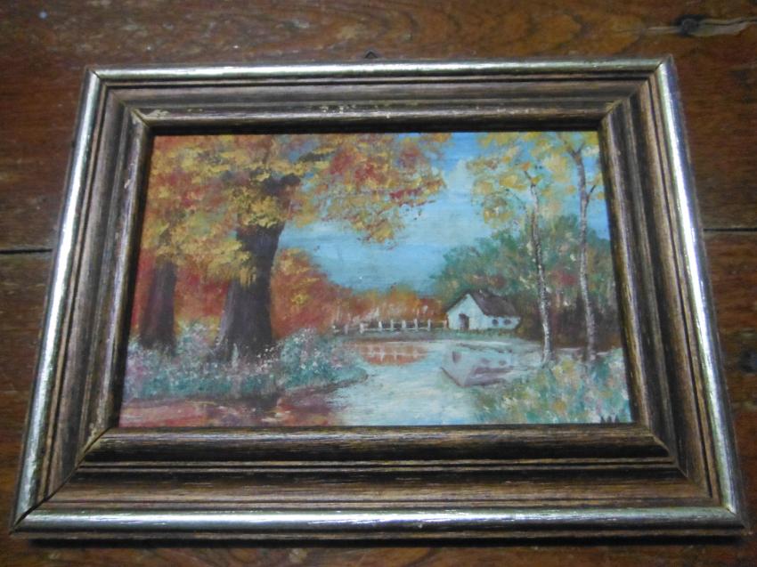 Three Seasons Oil on Panel Framed