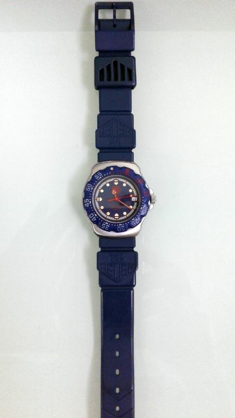 Rare Retro Tag Heuer Formula 1 Blue Dial Quartz Watch 38mm Bargain!