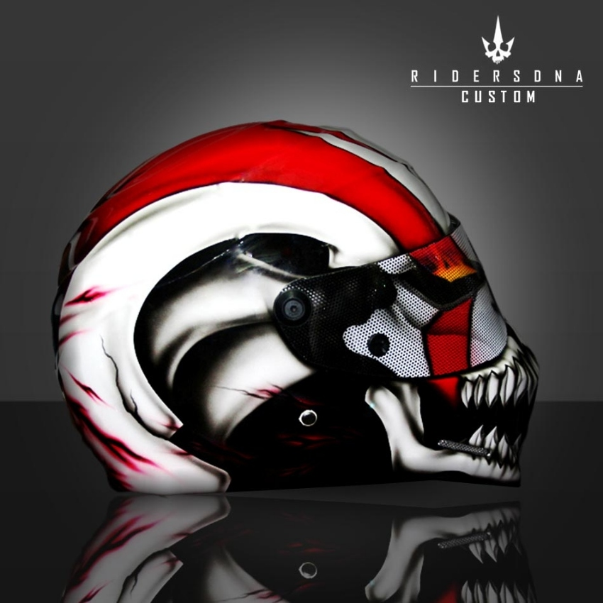 Custom Paint Airbrush DOT, ECE, Aust. Approved Crash Helmet