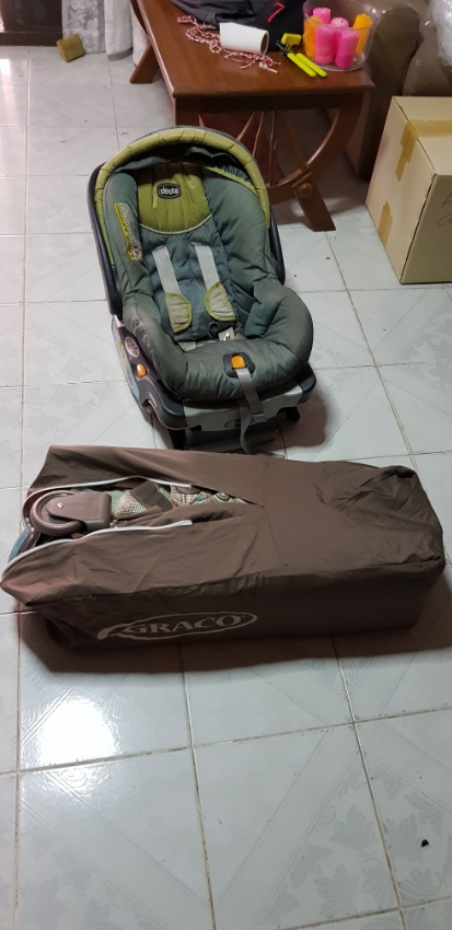 Baby stroller, crib and car seat