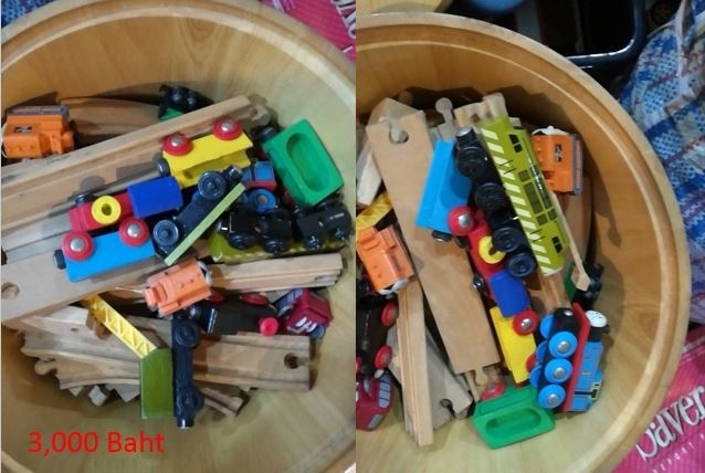 Wooden Train Set With Thomas the Tank