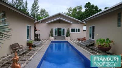 river front estate of 2 villas on 2 rai with pool & 60m water frontage