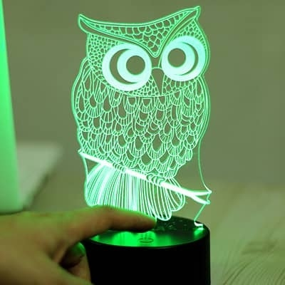 7 Color LED 3D Owl Lamp/Nightlight