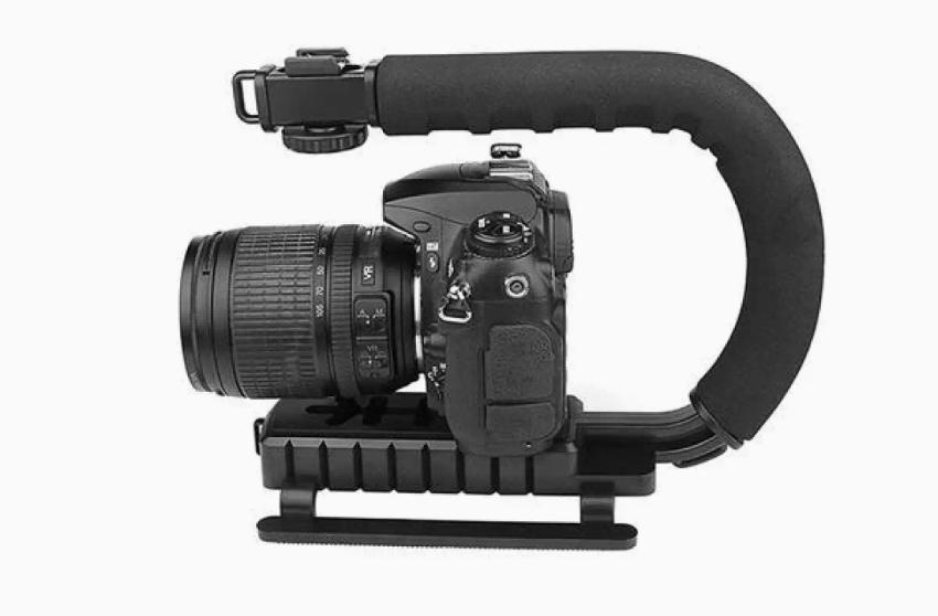 C shape bracket handle grip stabilizer for Dslr or smartphone