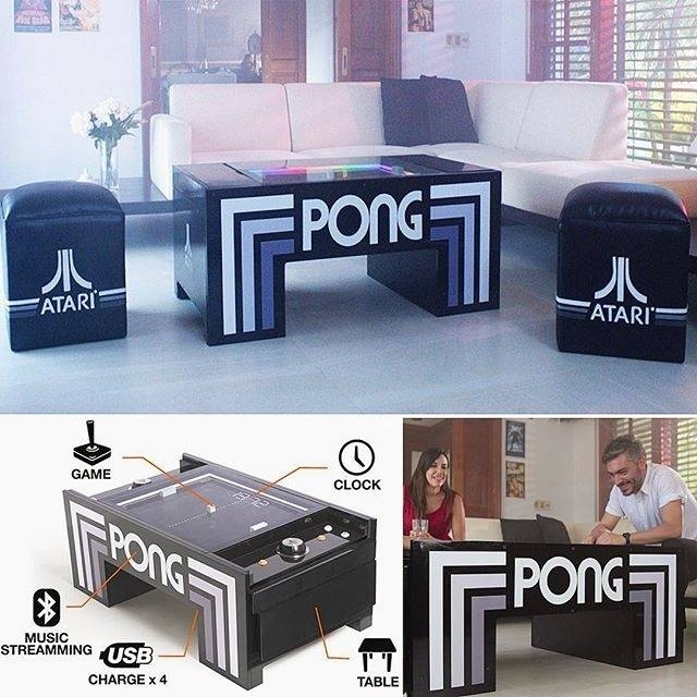 Atari Pong Coffee Table Arcade Game Electonics TV Rat Burana - Atari coffee table
