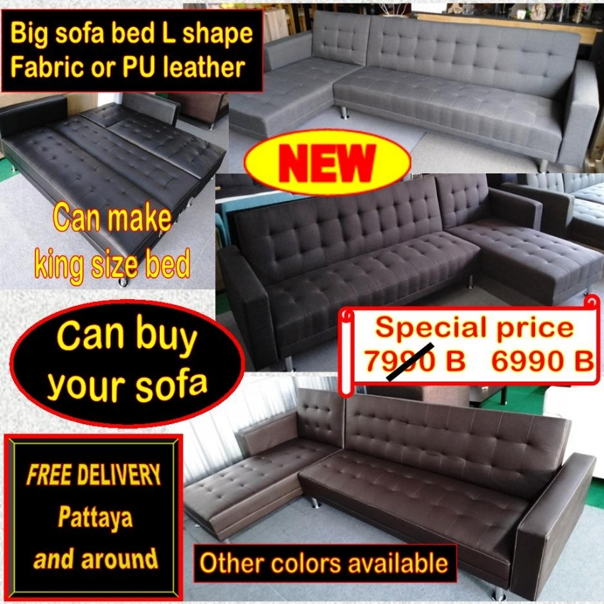 Large sofa bed L shape / Free delivery / Can buy your sofa