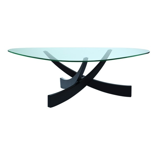 Guatemala Coffee table - glass & wood