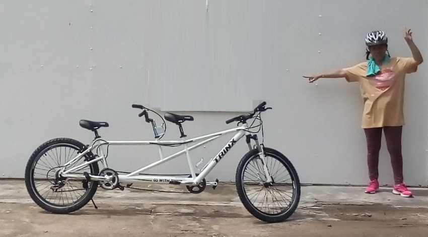 Bicycle Tandem Trix white color (NEW)