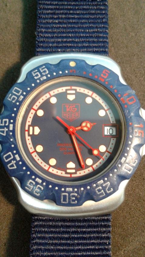 Rare Retro Tag Heuer Formula 1 Blue Dial Quartz Watch 36mm