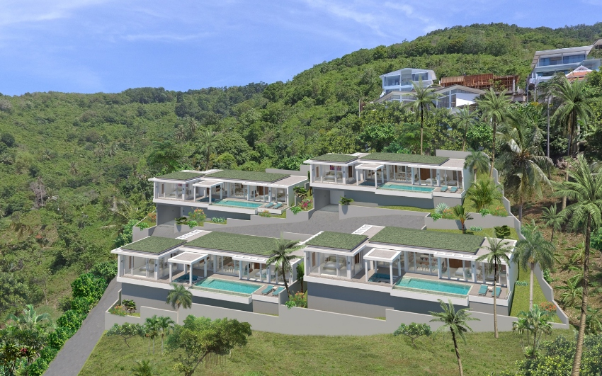 Brand new villas for sale on Koh Samui by Smart Development Co.