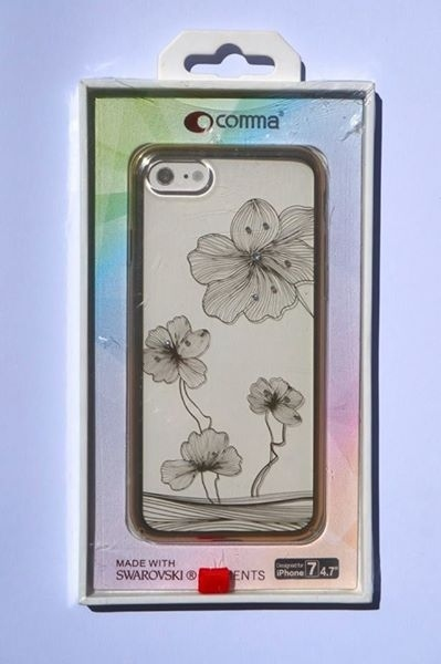 Comma Swarovski Crystal Flora 360 Case for iPhone 7 (Champagne Gold)