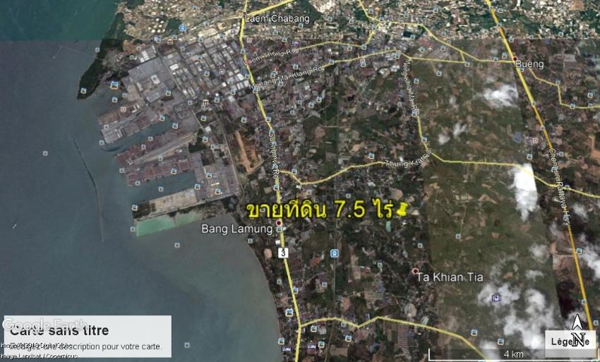7 Rai 2 Ngan 42 Twa for sale close to Laem Chabang