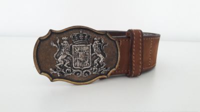 Original bavarian Octoberfest Belt, strong and heavy Leather