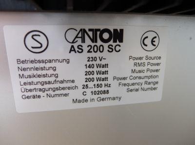 Canton Karat AS 200 SC - subwoofer