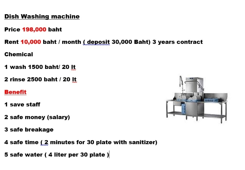 Dish washing machine for sale ,rent and service