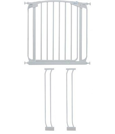CHILDRENS SECURITY GATE WITH EXTENSIONS – DREAMBABY – WHITE