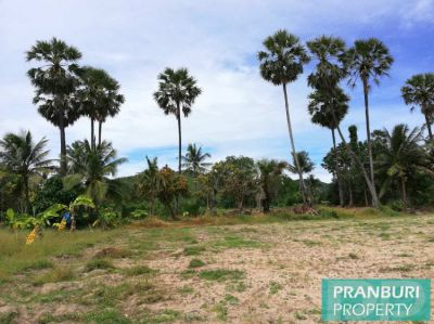 Nice shaped mountain view land plot near Khao Kalok beach w/ utilities
