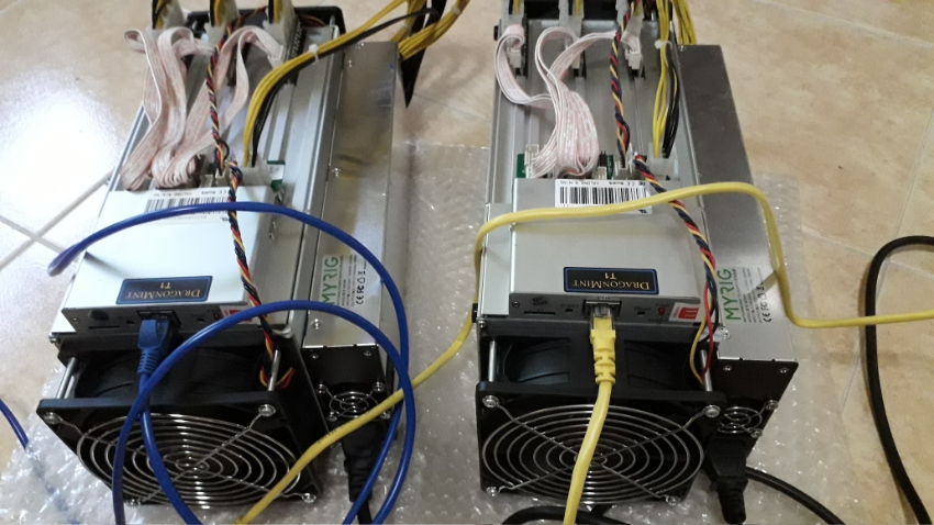 Halong Dragonmint T1 16TH Miner + Power Supply (x2)