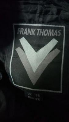Mens Frank Thomas Leather Motorcycle Pants 36 waist UK (56 waist Euro)