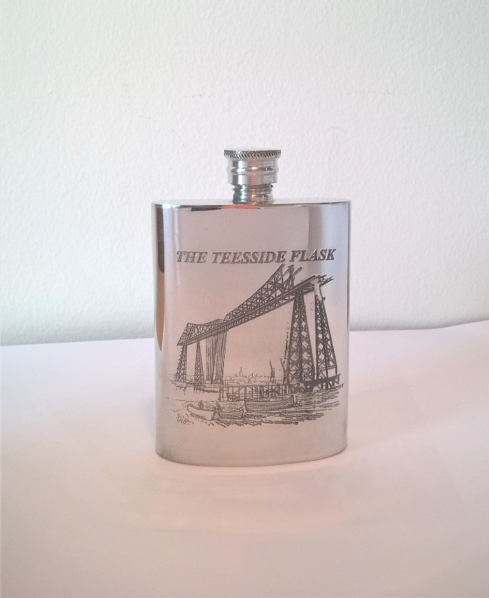 Pewter Flask handmade by Pinder Bros (UK)