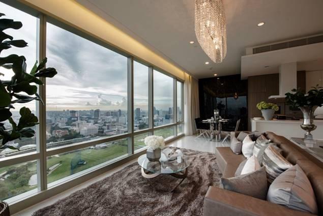185 Rajadamri Luxury 2 bedroom penthouse duplex for rent Stunning view